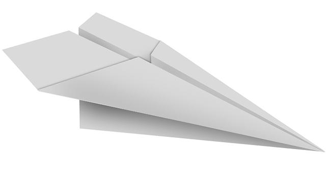 דימוי לאוטומציה שיווקית - מטוס נייר