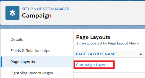 Campaign Layout